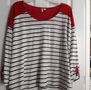 Women's Plus Striped Tee 26W/28W